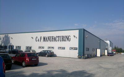 Vzduchotechnika výrobní haly C&F Manufakturing VELIM